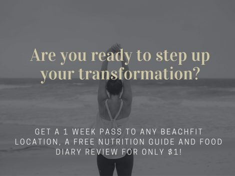 Get a Free 1 week Beachfit pass, nutrition guide and a food diary review.